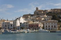 View of Dalt Vila, Cathedral and Harbour — Stock Photo