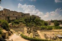 Римські руїни нижче Volterra — стокове фото