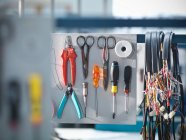 Organised tools and cables — Stock Photo