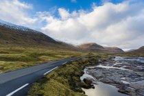 Мальовничі краєвиди Hvalviksvegur, Фарерські острови — стокове фото