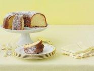 Piastre di torta di limone con lo zucchero — Foto stock