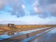 Sea salt harvest station — Stock Photo