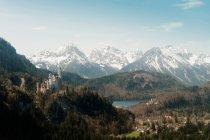 Alpes alemães com vista para a paisagem — Fotografia de Stock
