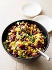 Schüssel mit Bohnen-Salat — Stockfoto