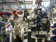 Car Worker Building Car Parts — Stock Photo