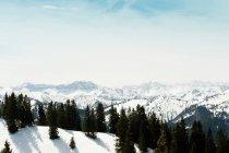 Мальовничим видом Німецька Альп з видом сільської місцевості — стокове фото