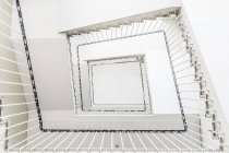 White square staircase, bottom view — Stock Photo