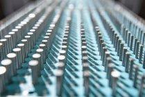 Barras de medición en fábrica - foto de stock