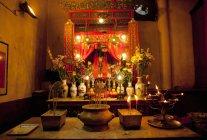 Innenansicht der Man Mo Tempel, Hong Kong, China — Stockfoto