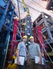 Scientists In Front Of Fusion Reactor — Stock Photo