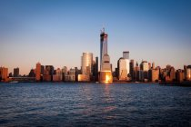 Skyline of Manhattan, view from Jersey City, New York City, USA — Stock Photo