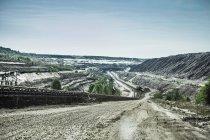 Поле добычи газа угля — стоковое фото