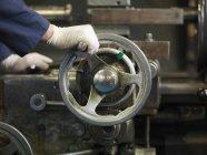 Ручное рабочее колесо — стоковое фото