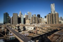 Manhattan cityscape view at daytime — Stock Photo