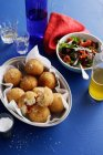 Dish of risotto balls — Stock Photo
