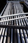 Close up of pipeline system, high angle view — Stock Photo