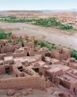 View of Ait Benhaddou built on hillside, Morocco — Stock Photo