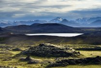 Vista do Lago de Veidivotn — Fotografia de Stock