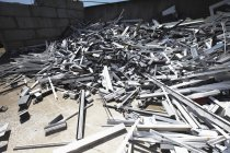 Heap of aluminium parts — Stock Photo