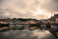 View of Padstow at evening time — Stock Photo
