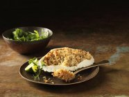 Orkney Crab gratin in shell with rocket — Stock Photo