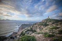 Scenic view of Coastline, Cagliari, Sardinia, Italy — Stock Photo