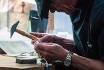 Bague d'examen platine bijoux artisan — Photo de stock