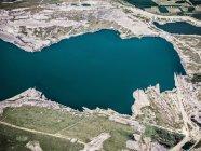 Streifen-Kohle-Bergbau-Feld — Stockfoto