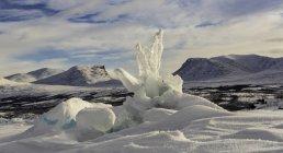 Vista panoramica Crinale di pressione, Lago Tornetrask, Lapporten, Abisko, Svezia — Foto stock