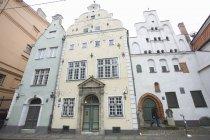 Three Brothers Edifici e museo di architettura, Riga, Lettonia — Foto stock