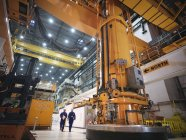 Charger machine in reactor hall of nuclear power station — Stock Photo
