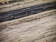 Striscia di carbone campo minerario — Foto stock