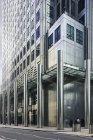 Asphalt pavement and office building, London — Stock Photo