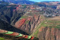 Vista panorámica de pH campos, Yunnan, China - foto de stock