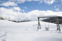 Snow covered swing, Tyrol, Austria — Stock Photo