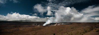 Panorama of Halemaumau Crater — Stock Photo