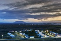 View of Reykjahlio village at dusk, Iceland — Stock Photo