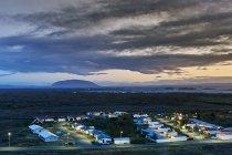View of Reykjahlio village at dusk, Iceland — Stock Photo