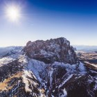 Scenic view of Mountain peak, Dolomites, Italy, taken from helicopter — Stock Photo