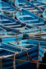 Fishing boats moored at the dock — Stock Photo