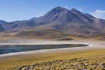 Живописный вид на озеро miscanti в национальном парке, Долина смерти, Сан-Педро-де-Атакама, Чили — стоковое фото