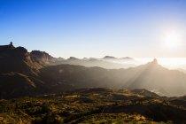 Горный пейзаж на закате, Гран Канария, Канарские острова — стоковое фото