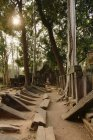 Rows of fallen stones, Prasat Thom, Koh Ker, Cambodia — Stock Photo