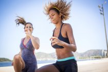 Front view of Young women exercising — Stock Photo