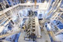 Salle des machines du navire porte-conteneurs, Goseong-gun, Corée du Sud — Photo de stock