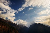 Chomrong Village Area, ABC trek, Annapurna Base Camp trek, Nepal — Stock Photo