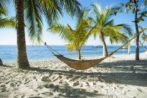Hängematte am tropischen Strand, Cebu, Philippinen — Stockfoto