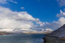 Vista panoramica di Vagafjordur, Isole Faroe — Foto stock