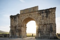Ruínas romanas de Volubilis, Meknes, Marrocos, Norte da África — Fotografia de Stock