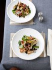 Pheasant meat with parsnip salad — Stock Photo